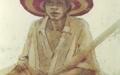 El sombrero de Mohamed 100 x 81 cms  t mixta tela