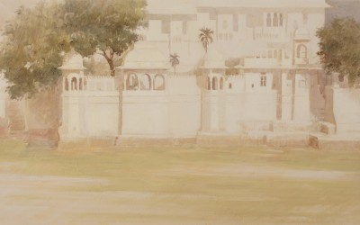 Udaipur 30 x 70 cms t mixta tabla