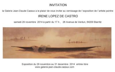Exposición individual en Biarritz