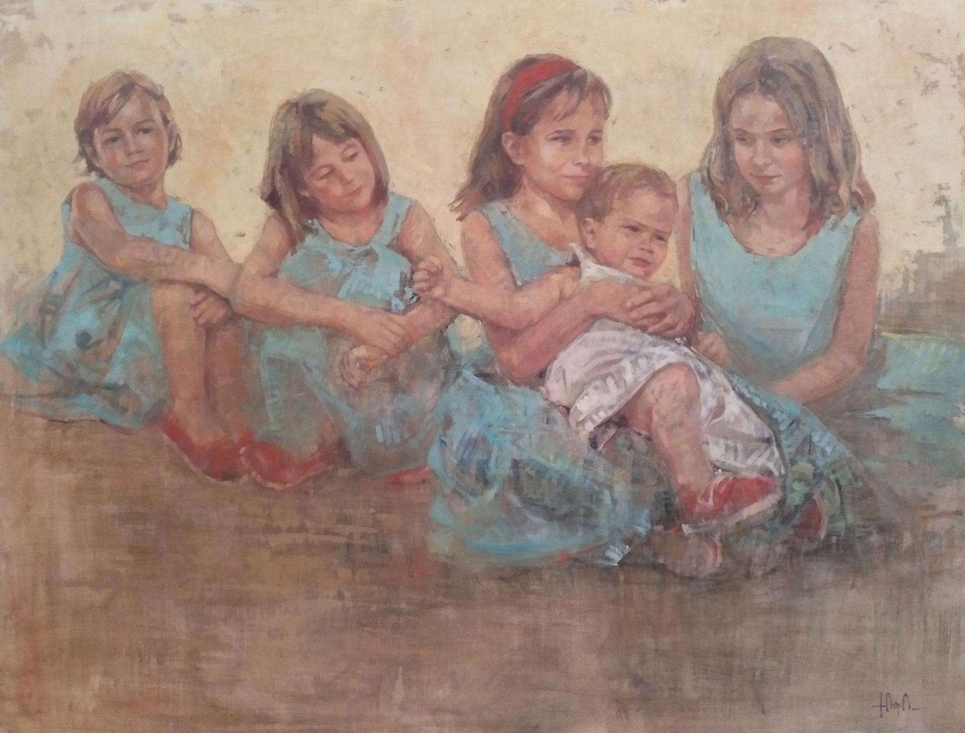 Los-5-hermanos-¢leo-sobre-lienzo-89-x-130-cm