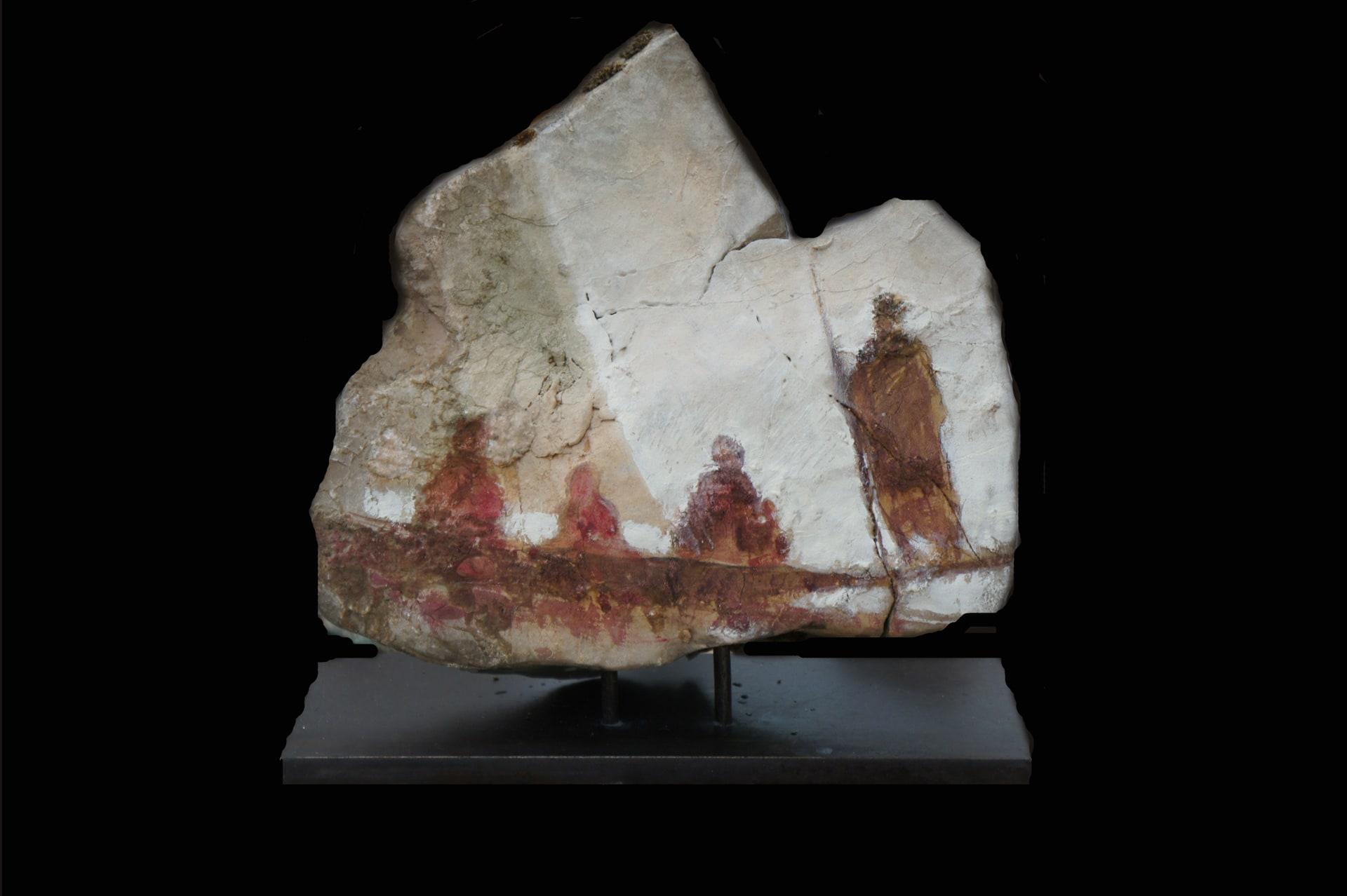 Barca II 20 x 25 x 15 cms mixta sobre piedra