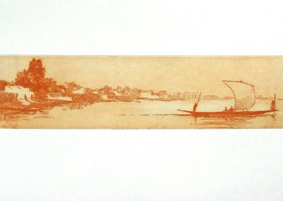 Diafarabe 66 x 28 cm Aguatinta y barniz blando