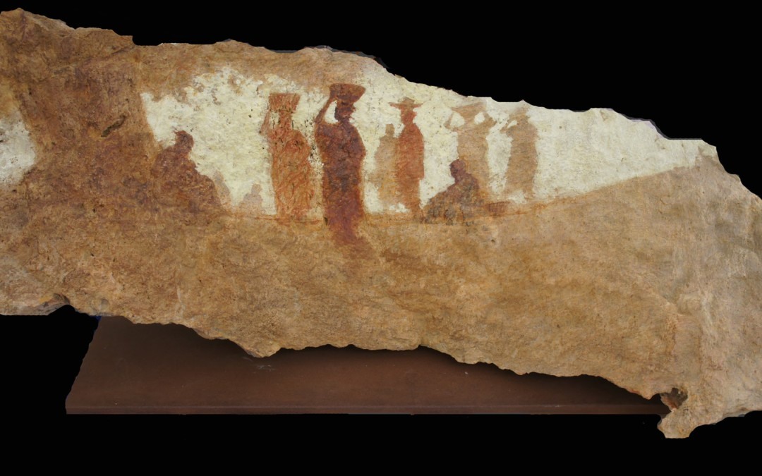 El arbol de la palabra  25 x 50 x 20 cms mixta sobre piedra
