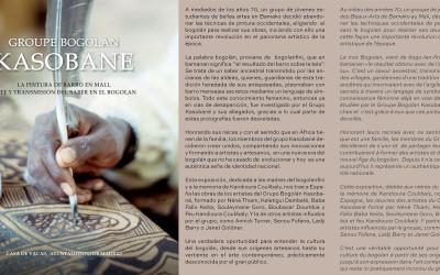 Edited the book-catalog Groupe Bogolan Kasobane