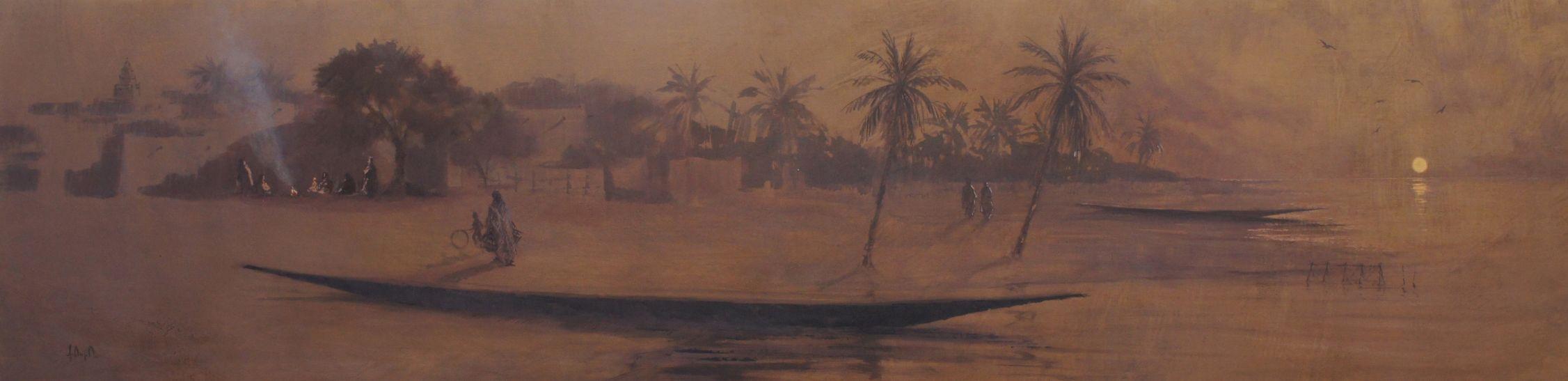 resized_012 Atardecer en el río 50 x 200 cm