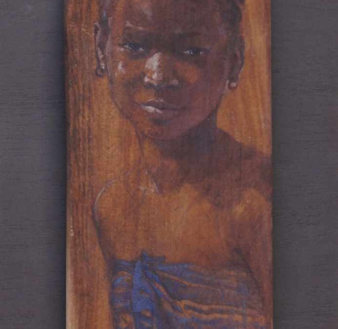 "Copper sahel    60 x 30 cm  ( 12″ x 24 "") oil on african wood (available original and  artprints)"
